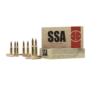 SSA ammunition by Nosler is tuned specifically for use in semi-automatic firearms chambered in .308 Winchester. Loaded to pressures that reliably cycle ...
