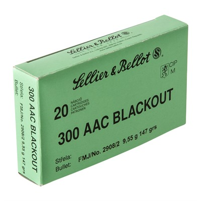300 Aac Blackout 147gr Fmj Ammunition Sellier & Bellot.
