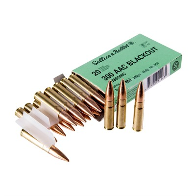 Sellier & Bellot's .300 AAC Blackout 200 gr Subsonic FMJ ammo is the correct round for getting maximum sound reduction from a ...