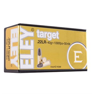 Target Ammo 22 Long Rifle 40gr Lead Round Nose Eley Americas.