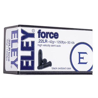 Force Ammo 22 Long Rifle 42gr Lead Round Nose Eley Americas.