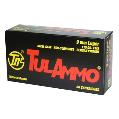Steel Case Ammo 9mm Luger 115gr Fmj Tulammo Usa.