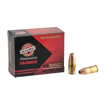 9mm Luger +p 115gr Jacketed Hollow Point Ammo Black Hills Ammunition.