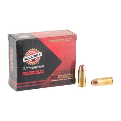 40 S&w 155gr Jacketed Hollow Point Ammo Black Hills Ammunition.