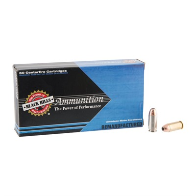 Remanufactured Ammo 40 S&w Jacketed Hollow Point Black Hills Ammunition.
