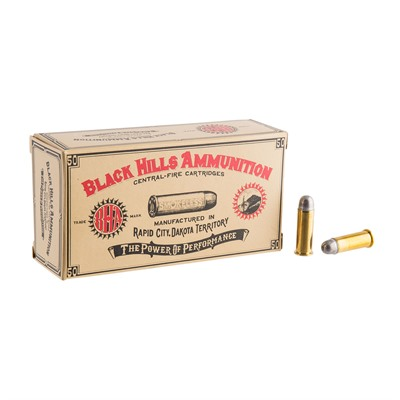 Cowboy Action Ammo 38 Long Colt 158gr Lead Round Nose Black Hills Ammunition.
