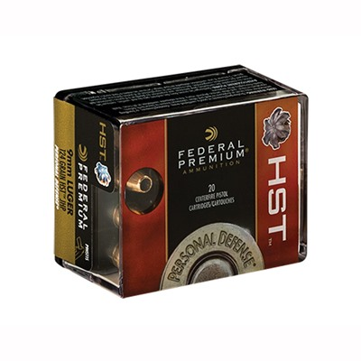 Premium Personal Defense Ammo 9mm Luger 147gr Hst Federal.