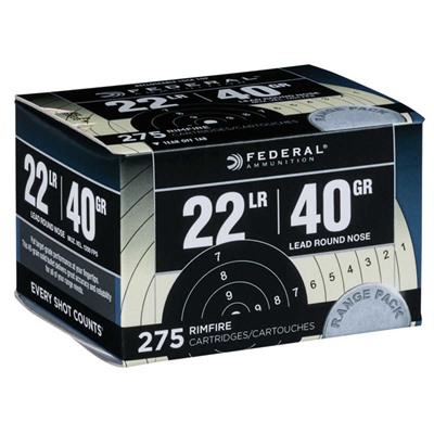 Range & Field Ammo 22 Long Rifle 40gr Lead Round Nose Federal.