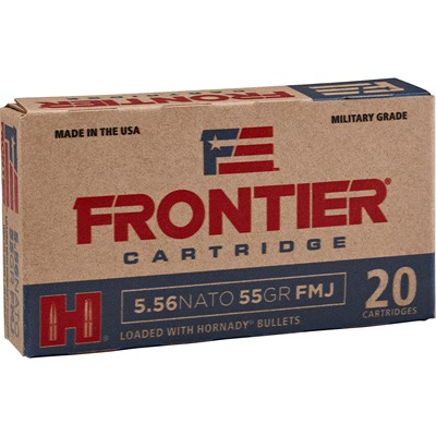 Frontier Ammo 223 Remington 55gr Spire Point Hornady.