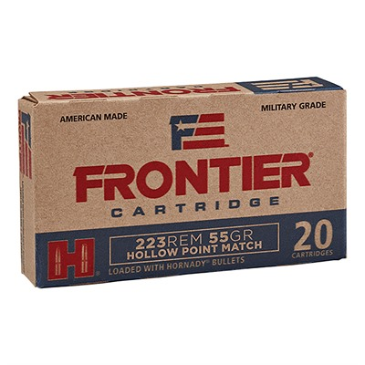 Frontier Ammo 223 Remington 55gr Hollow Point Match Hornady.