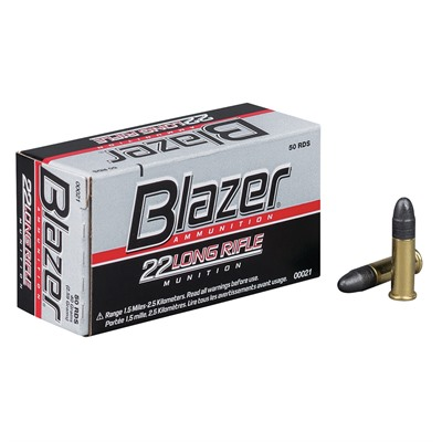 Blazer Ammo 22 Long Rifle 40gr Lead Round Nose Cci.
