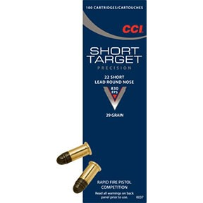 Short Target Short Ammo 22 Short 29gr Lead Round Nose by Cci