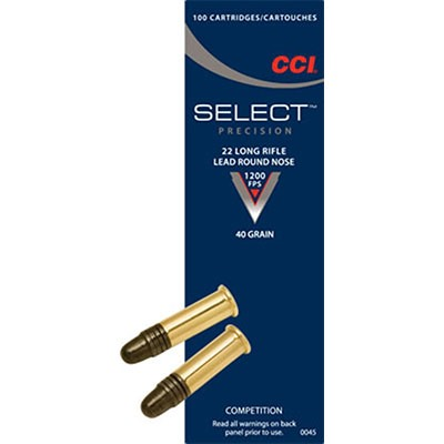 Select Ammo 22 Long Rifle 40gr Lead Round Nose by Cci