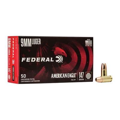 American Eagle Ammo 9mm Luger 147gr Fmj-Fn American Eagle.