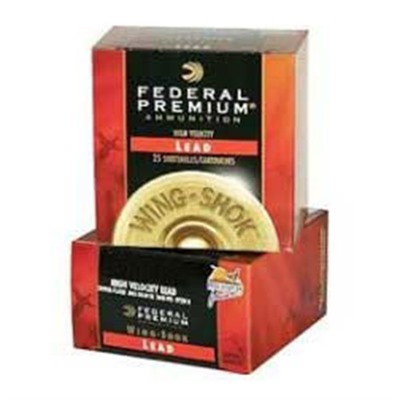 "Wing-Shok High Velocity Ammo 12 Gauge 2-3/4"" 1-3/8 Oz 6 Shot Federal."