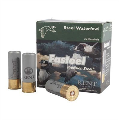 Fasteel Waterfowl Ammo 12 Gauge 3 1-3/8 Oz 3 Steel Shot Kent Cartridge.