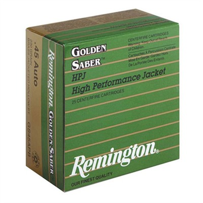 Golden Saber Ammo 45 Acp +p 185gr Bjhp Remington.