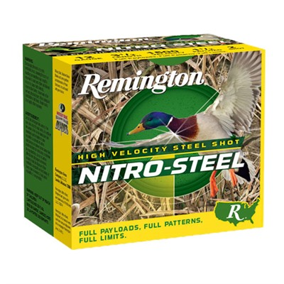 "Nitro-Steel Ammo 12 Gauge 2-3/4"" 1-1/4 Oz Bb Steel Shot Remington."
