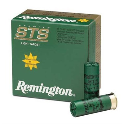 "Sts Light Target Ammo 12 Gauge 2-3/4"" 1-1/8 Oz 9 Shot Remington."