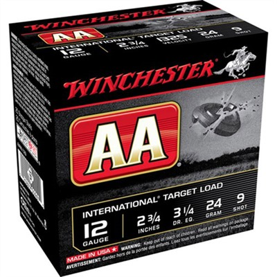 "Aa International Ammo 12 Gauge 2-3/4"" 7/8 Oz 9 Shot Winchester."