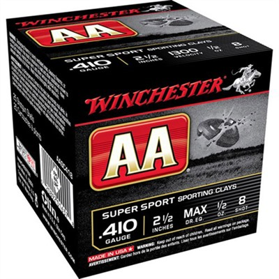 "Aa Supersport Ammo 410 Bore 2-1/2"" 1/2 Oz 8 Shot Winchester."
