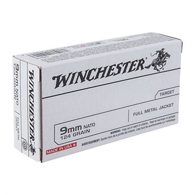 Usa White Box Ammo 9mm Nato 124gr Fmj Winchester.
