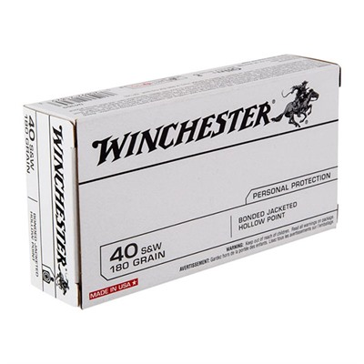 Usa White Box Ammo 40 S&w 180gr Jhp Bonded Winchester.