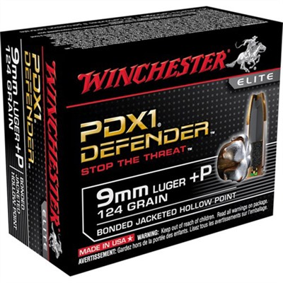 Pdx1 Defender Ammo 9mm Luger +p 124gr Hp Winchester.