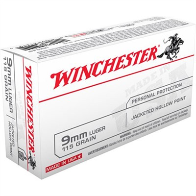 Usa White Box Ammo 9mm Luger 115gr Jhp Winchester.