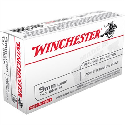 Usa White Box Ammo 9mm Luger 147gr Jhp Winchester.