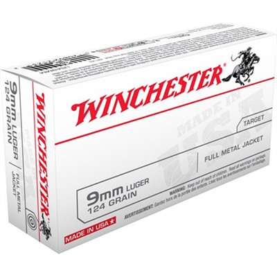 Usa White Box Ammo 9mm Luger 124gr Fmj Winchester.