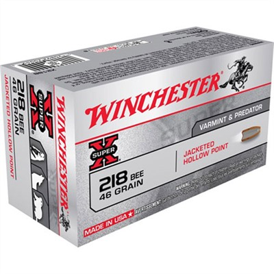 Click here to buy Super-X Ammo 218 Bee 46gr Jhp by Winchester.