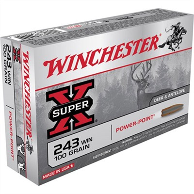Click here to buy Super-X Ammo 243 Winchester 100gr Power-Point by Winchester.