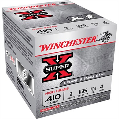 Super-X High Brass Ammo 410 Bore 3 11/16 Oz 4 Shot Winchester.