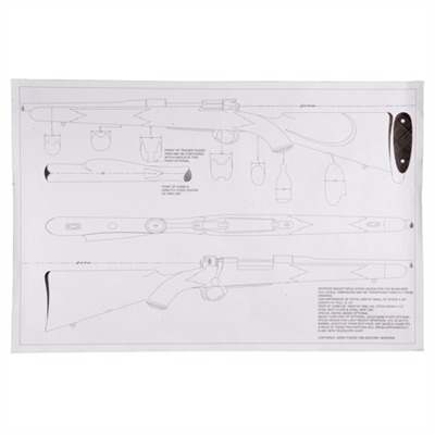 picture about Printable Gun Stock Templates titled Custom made Inventory Template, Mauser 98