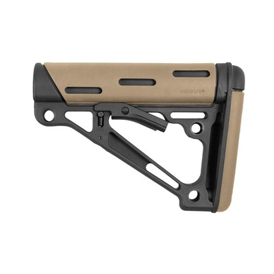 Ar-15 Overmolded Buttstock Collapsible Mil-Spec Fde Rubber Hogue.