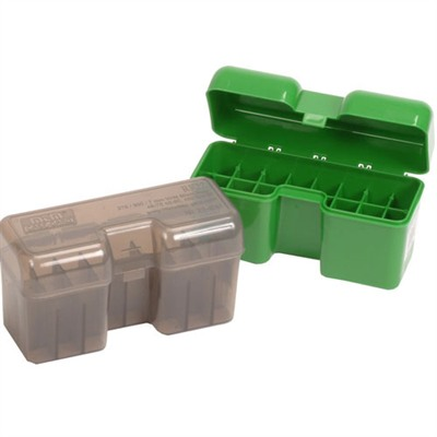 Your ammunition will stay safe and dry in these 22 round flip top ammo boxes made from polypropylene. They are designed for ...