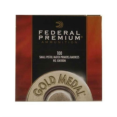 Premium Gold Medal Pistol Primers Federal.