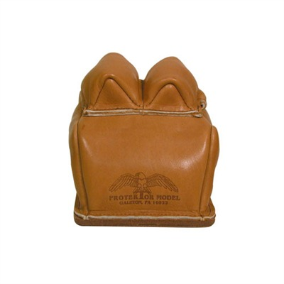 These bunny ear style bags are constructed of heavy leather with a thick, double layer of leather on the bottom for extra ...