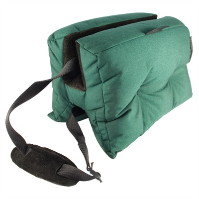 "The large bench bag accommodates rifles with forearm stocks up to 2½"". Sits a barrel 8"" off the bench. Ideal for target shooting ..."