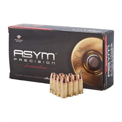 Action Match Ammo 9mm Luger 115gr Jhp Asym Precision Ammunition.