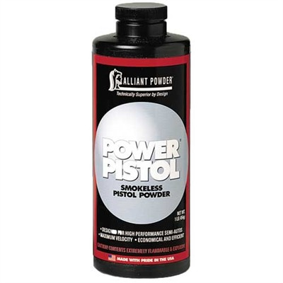 Power Pistol Powder Alliant Powder.