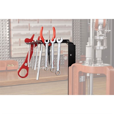 Improve efficiency and convenience by storing frequently used tools directly on your AP press. Install the bracket and caddy on either side ...