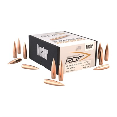 30 Caliber 175gr Rdf Reduced Drag Factor Bullets Nosler, Inc..