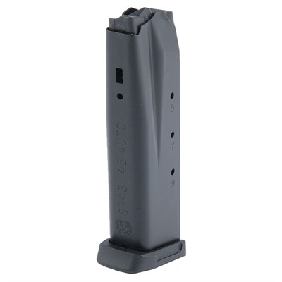 This is a factory 45 Caliber, 10-round alloy steel magazine for the Ruger® SR45™ Pistol.