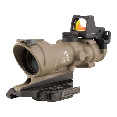 Acog Ecos 4x32mm Scope Crosshair Reticle Buis With Rm01 Rmr Trijicon.