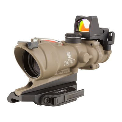 Acog Ecos 4x32mm Dual Illum Crosshair 5.56 Reticle With Rm01 Rmr Trijicon.