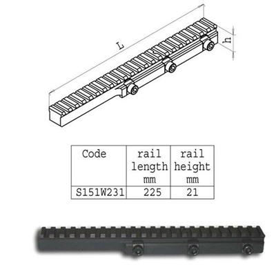 Direct Thread Rail Picatinny Aluminum Black Sako.
