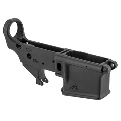 "Stripped, small pin, semi-auto lower receiver is precision machined from a durable, 7075 T6 aluminum forging. Stamped ""Cal Multi,"" this versatile mil-spec ..."