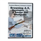 BROWNING A-5,REMINGTON 11 & SAVAGE 720 MANUAL & ARMORER'S DVD